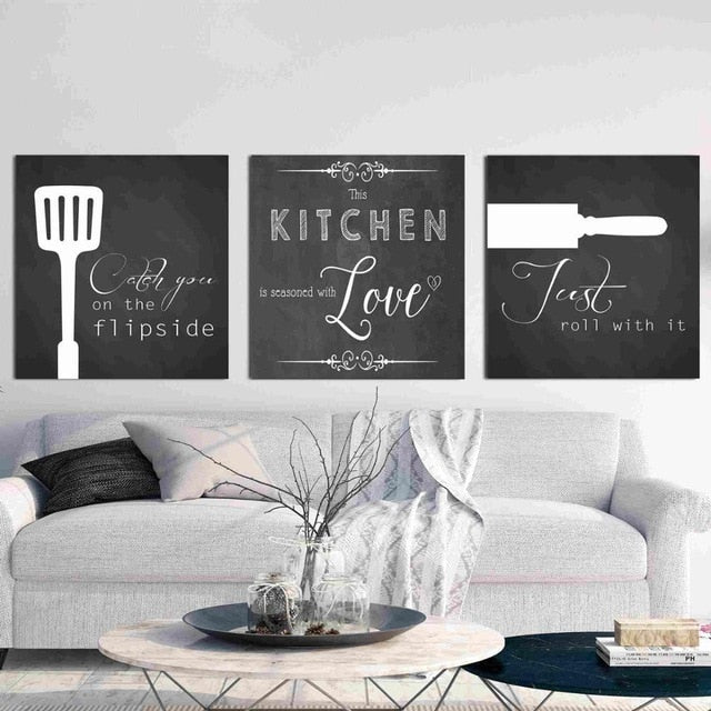 Kitchen Love  Artwork 3-Piece Set - infoAlamaison