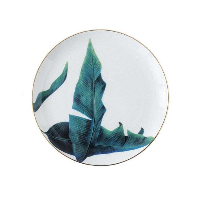 Rainforest Ceramic Plate - infoAlamaison