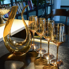 Load image into Gallery viewer, Gold Regal Wine Set - infoAlamaison