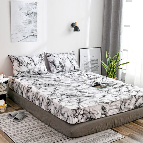 Marble Fitted Sheet - infoAlamaison