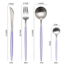 Load image into Gallery viewer, White Gold Steel Cutlery Set - infoAlamaison