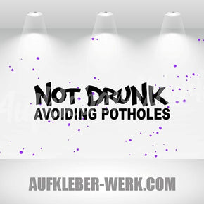 Not Drunk Avoiding Potholes