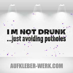 I M NOT DRUNK ...just avoiding potholes