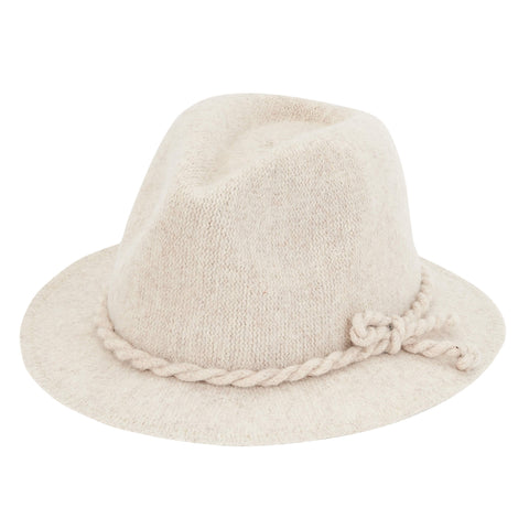 Knit Safari Fedora W/ Side Knot Detail