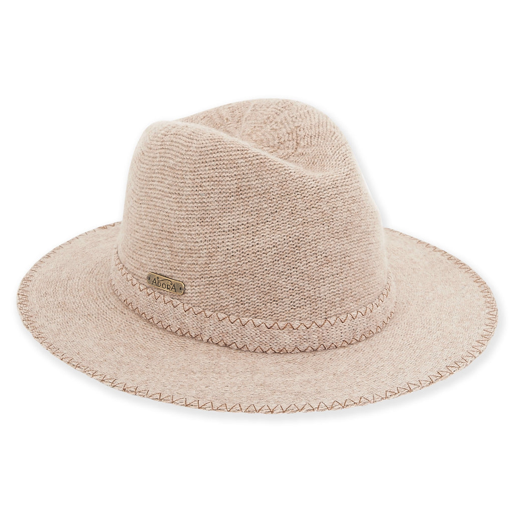 Ribbed Knit Fedora
