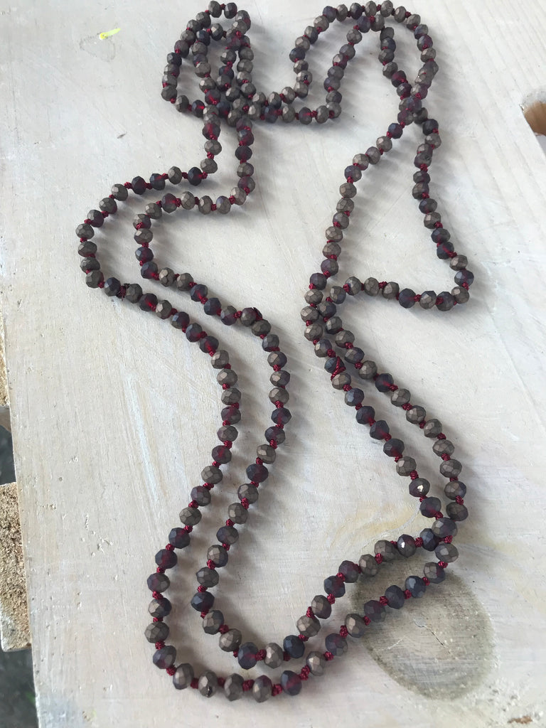 Raw Stone Bead Necklace