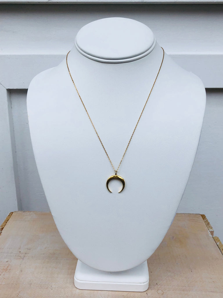 Gold Filled Crescent Moon Necklace