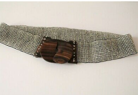 Bali Wooden Buckle Beaded Belt