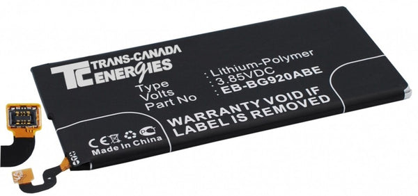 Galaxy S6 - CE-SGG920 Cell phone replacement battery Samsung 2550mAh