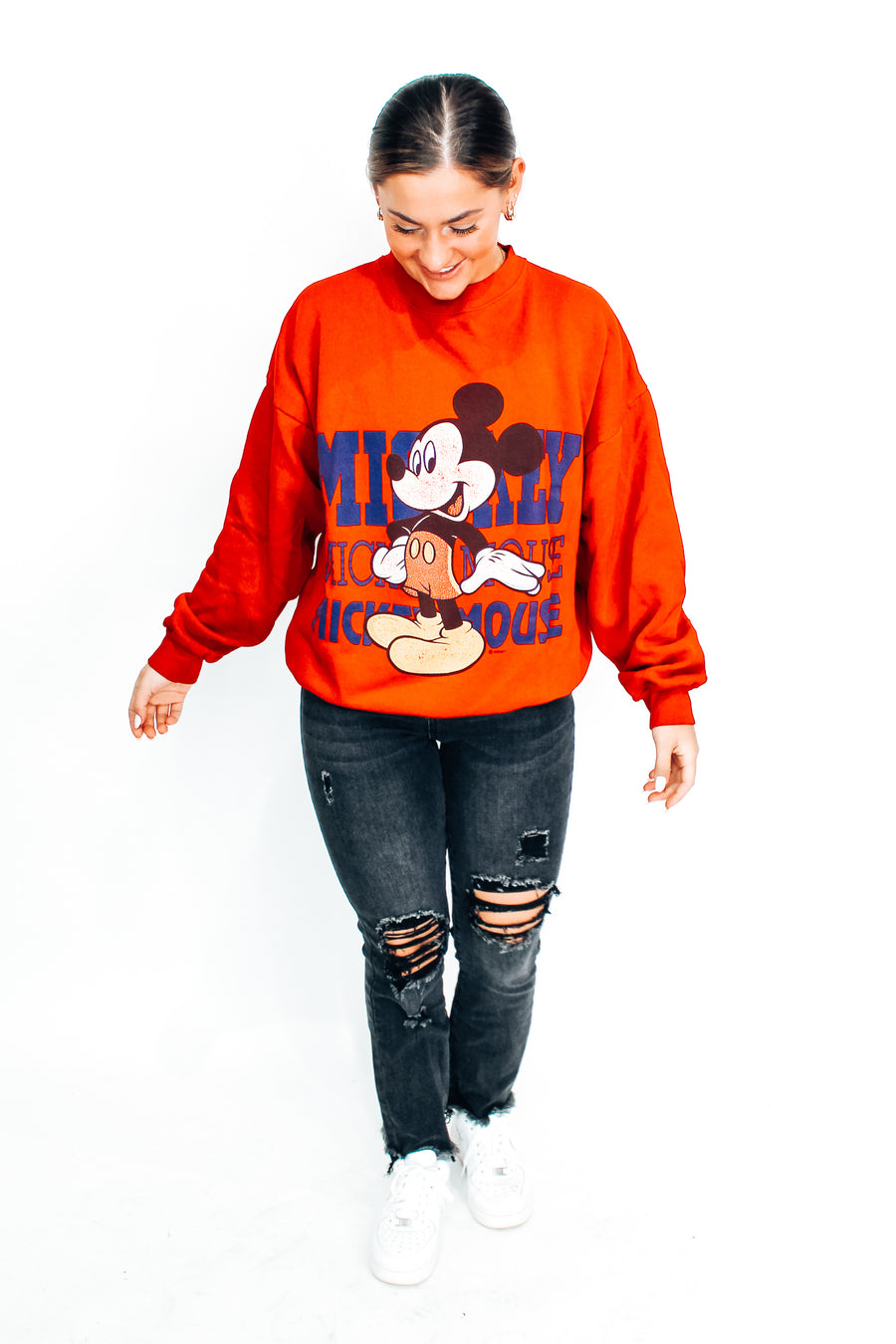 Vintage 90s Mickey Mouse Sweatshirt - L
