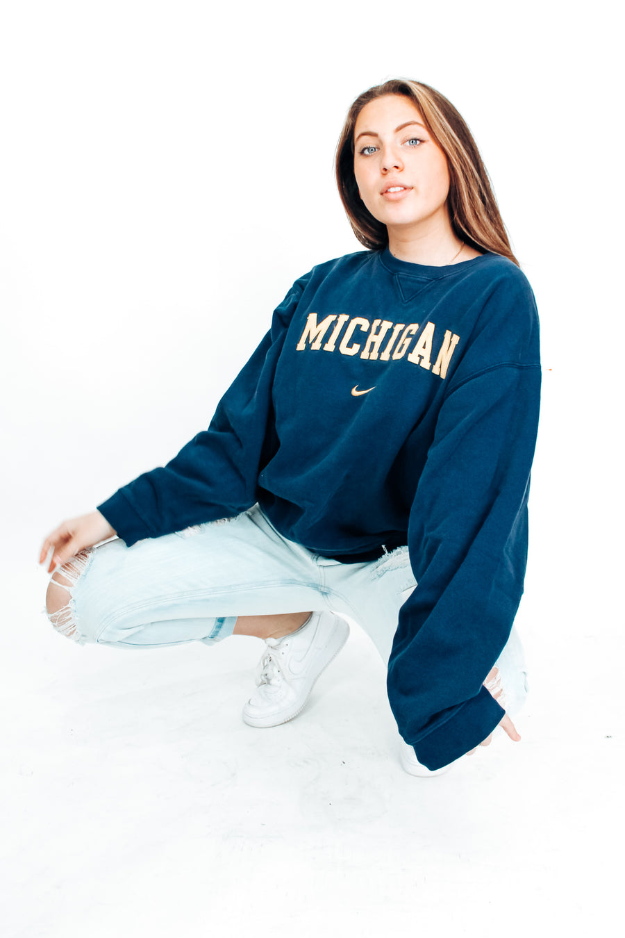 Vintage University of Michigan Nike Sweatshirt - L