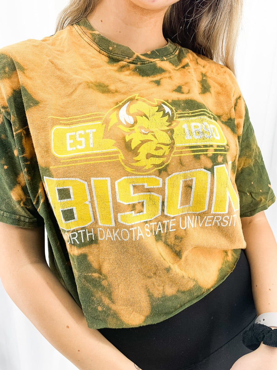 North Dakota State University Acid Wash Crop Tee - L