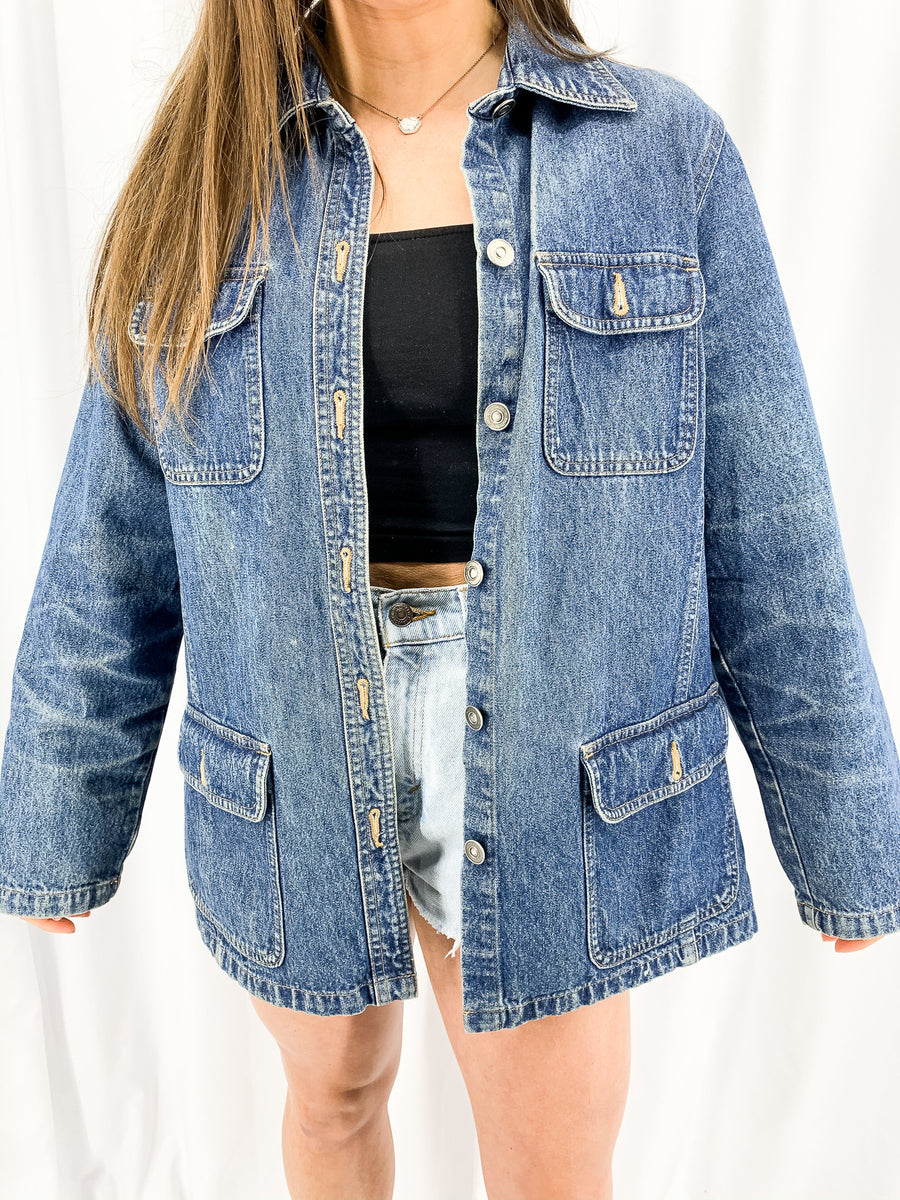 Vintage Denim Jacket - L