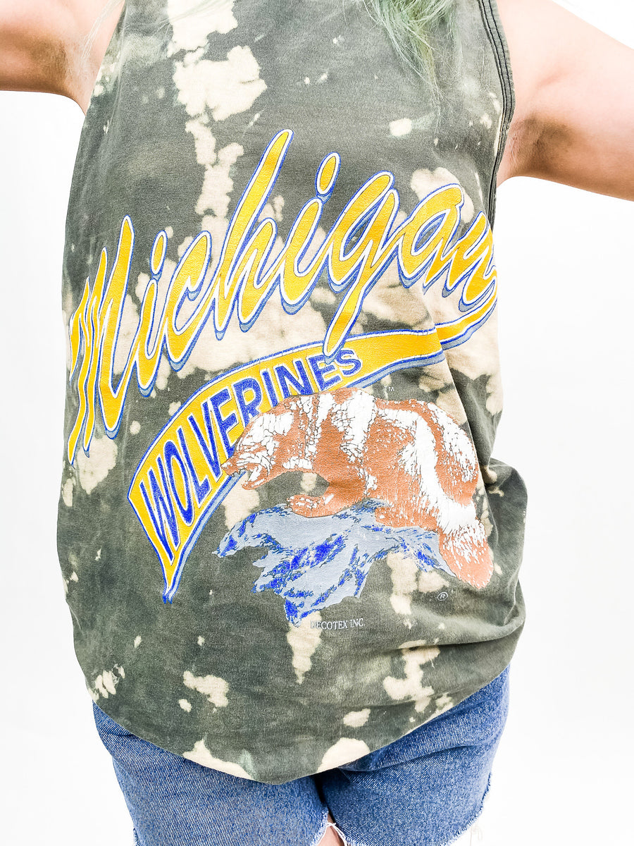 University of Michigan Vintage Tie Dye Tee - M