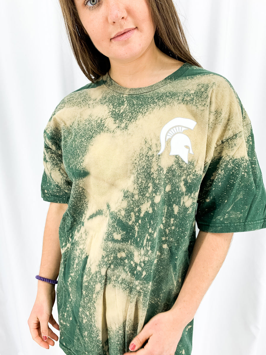 Michigan State University Acid Wash Tee - L