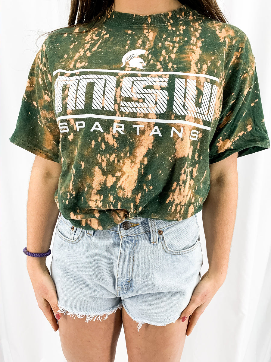 Michigan State University Acid Wash Tee - M