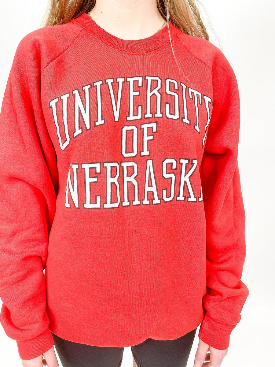 Vintage University of Nebraska Sweatshirt - XL