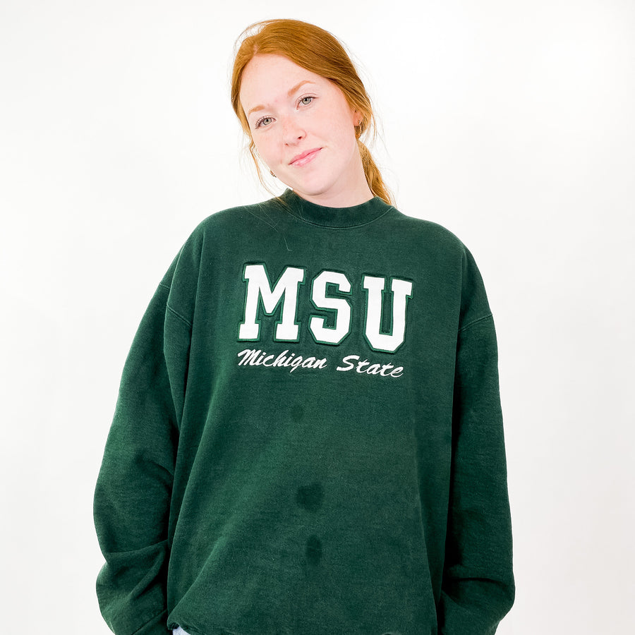 Vintage Michigan State University Sweatshirt - XL