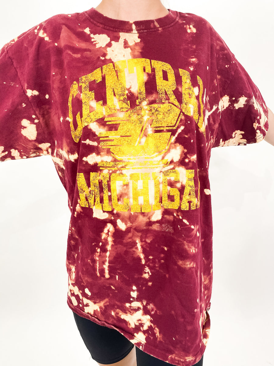 Central Michigan University Tie Dye Tee - M