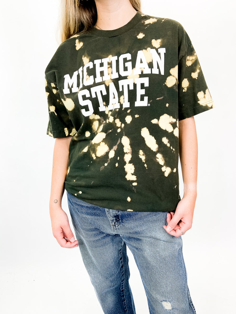 Michigan State University Tie Dye Tee - L