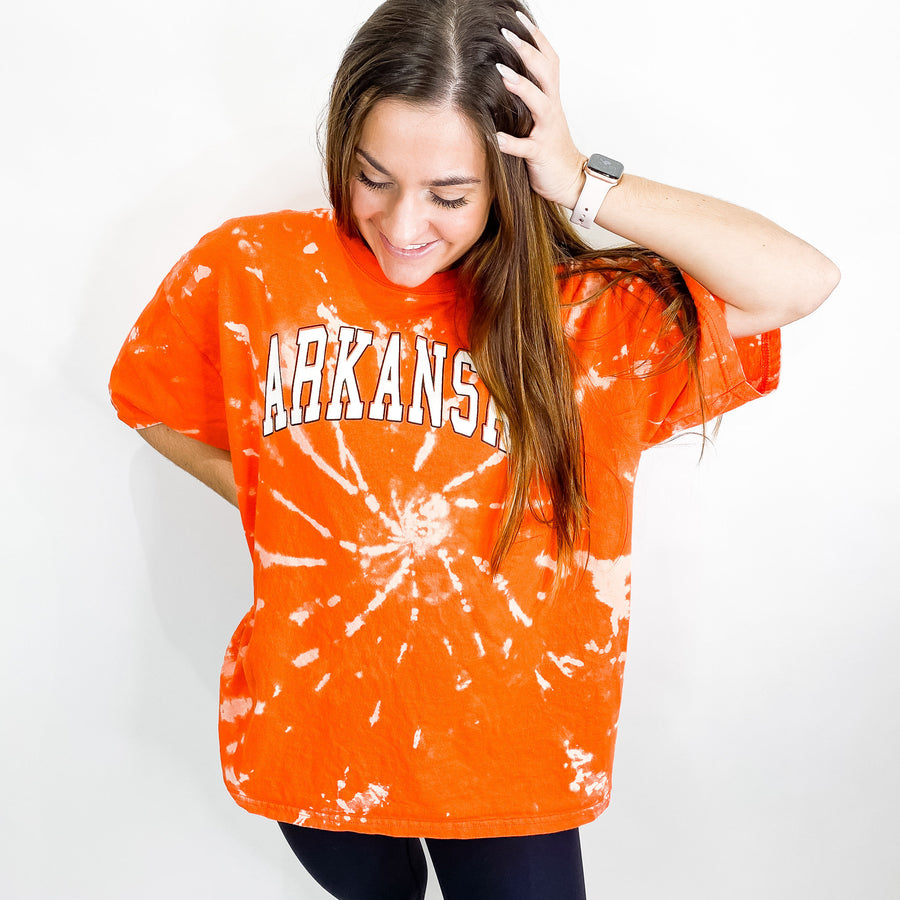 University of Arkansas Tie Dye Tee - XL