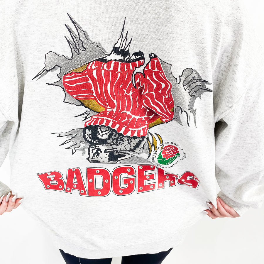 Vintage University of Wisconsin Bling Sweatshirt - L