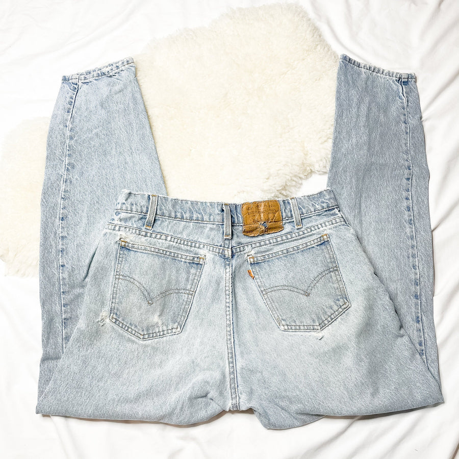 Vintage Levi's 550 Orange Tab Mom Jeans | 0199