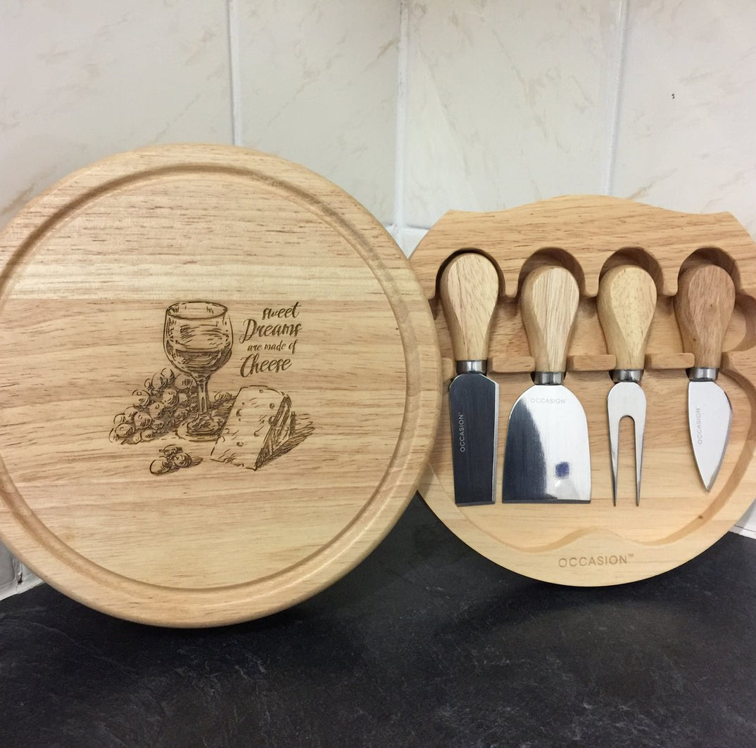 Personalised Cheese board set gift for Christmas, Mother's Day and Father's Day