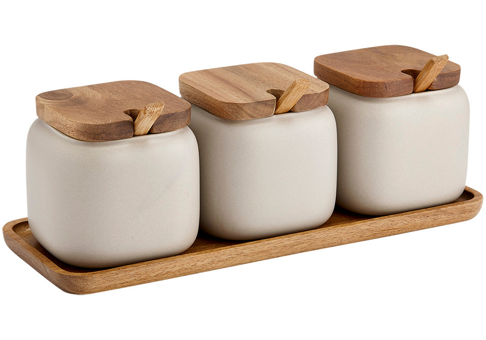 Essentials Canister & Spoon Counter Set