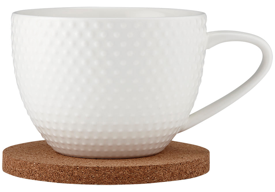 Abode Textured Mug & Coaster Set