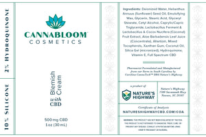CannaBloom Blemish Cream with Hemp