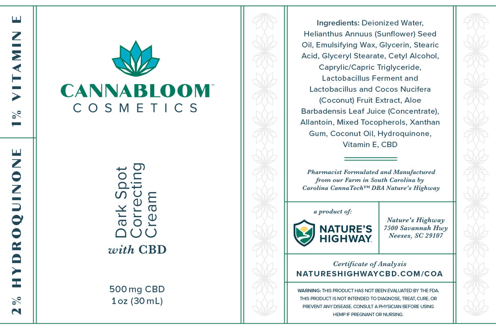Load image into Gallery viewer, CannaBloom Dark Spot Correcting Cream with Hemp