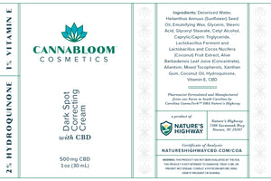 CannaBloom Dark Spot Correcting Cream with Hemp