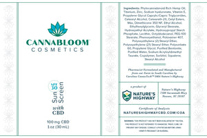 CannaBloom Sunscreen SPF 30+