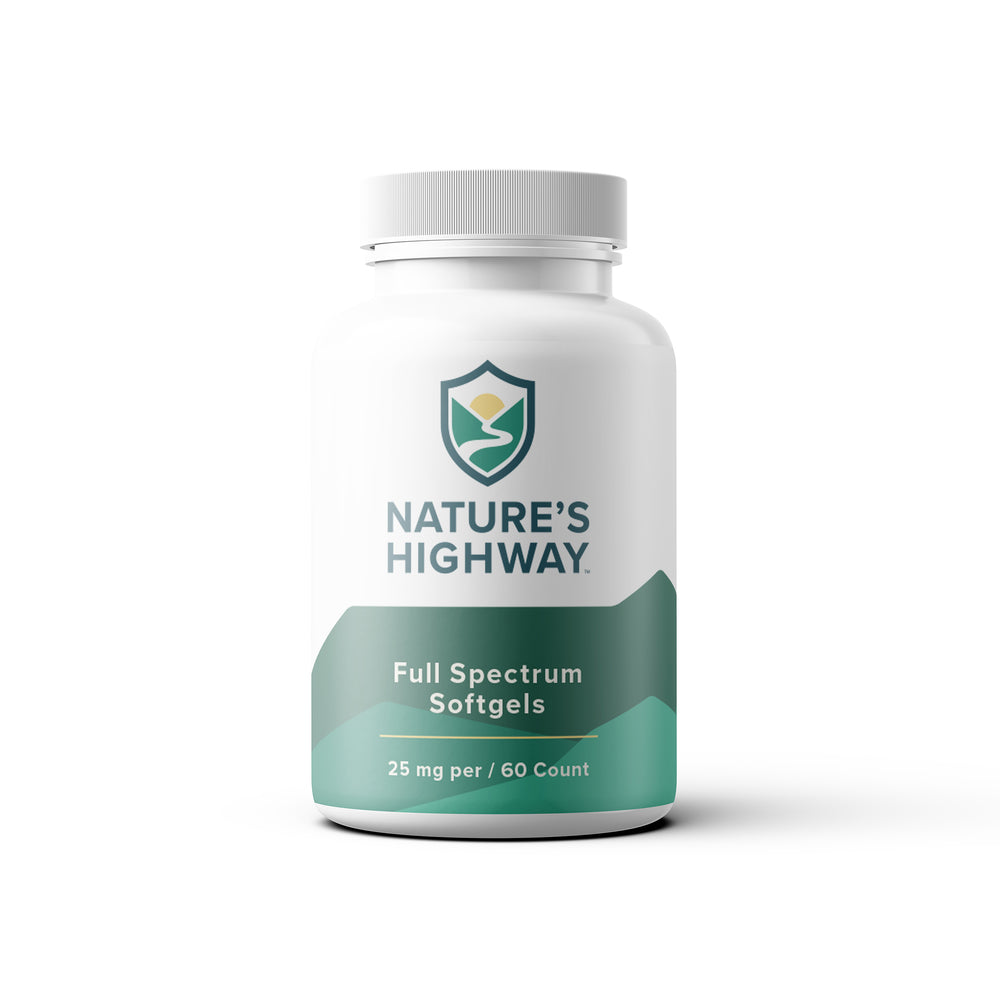 60 Count 25mg Full-Spectrum Softgels