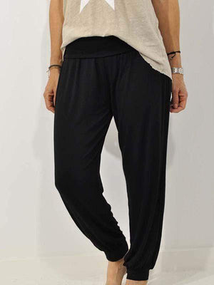 wiccous.com Plus Size Bottoms Black / S Loose Casual Trousers
