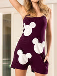 Disney Mickey Mouse Fashion Loveliness Leisure Wear Pajamas Jumpsuits