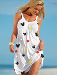 Mickey Mouse Star Halter Beach Dress
