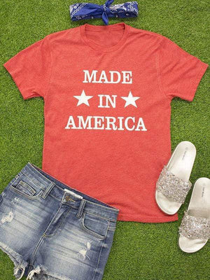 wiccous.com T-shirts Red / S Made In America Star T-shirts