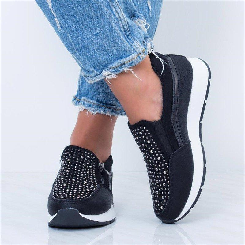 2020 Woman Fashion platform Zip Sneakers