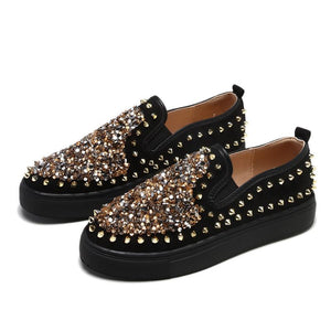 Women's Fashion Studded Sequin Casual Shoes