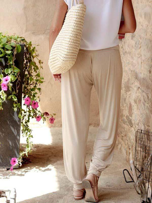wiccous.com Plus Size Bottoms Loose Casual Trousers