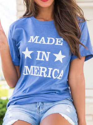 wiccous.com T-shirts Blue / S Made In America Star T-shirts