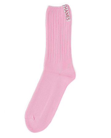LABEL SOCKS ROSE