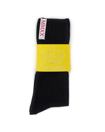 LABEL SOCKS BLACK