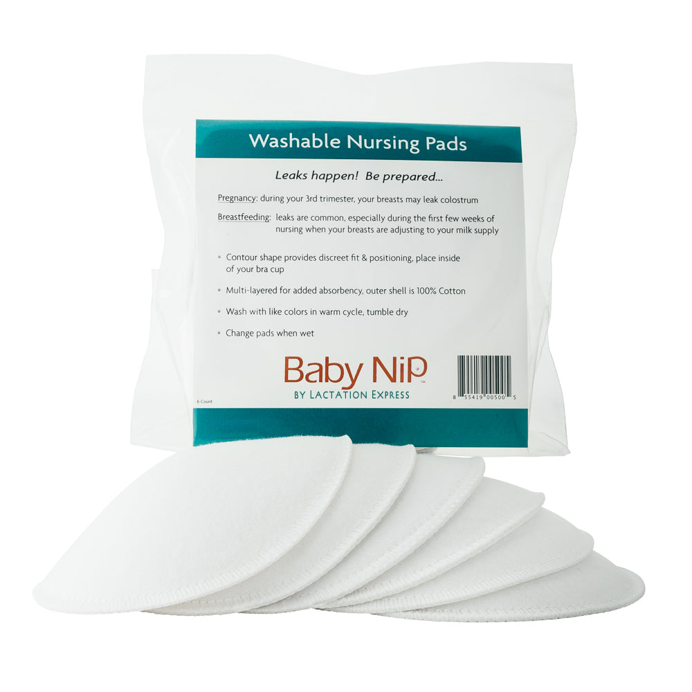 Molded Washable Contoured Nursing Pads by Lactation Express