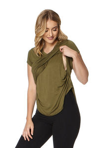 V-neck Layered Nursing Top by La Leche League Intimates