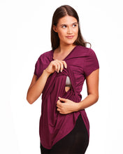 Load image into Gallery viewer, V-neck Layered Nursing Top by La Leche League Intimates