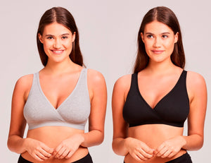 Value Line 2 Pack Savings Bundle Pullover Cotton Sleep Maternity Nursing Bras