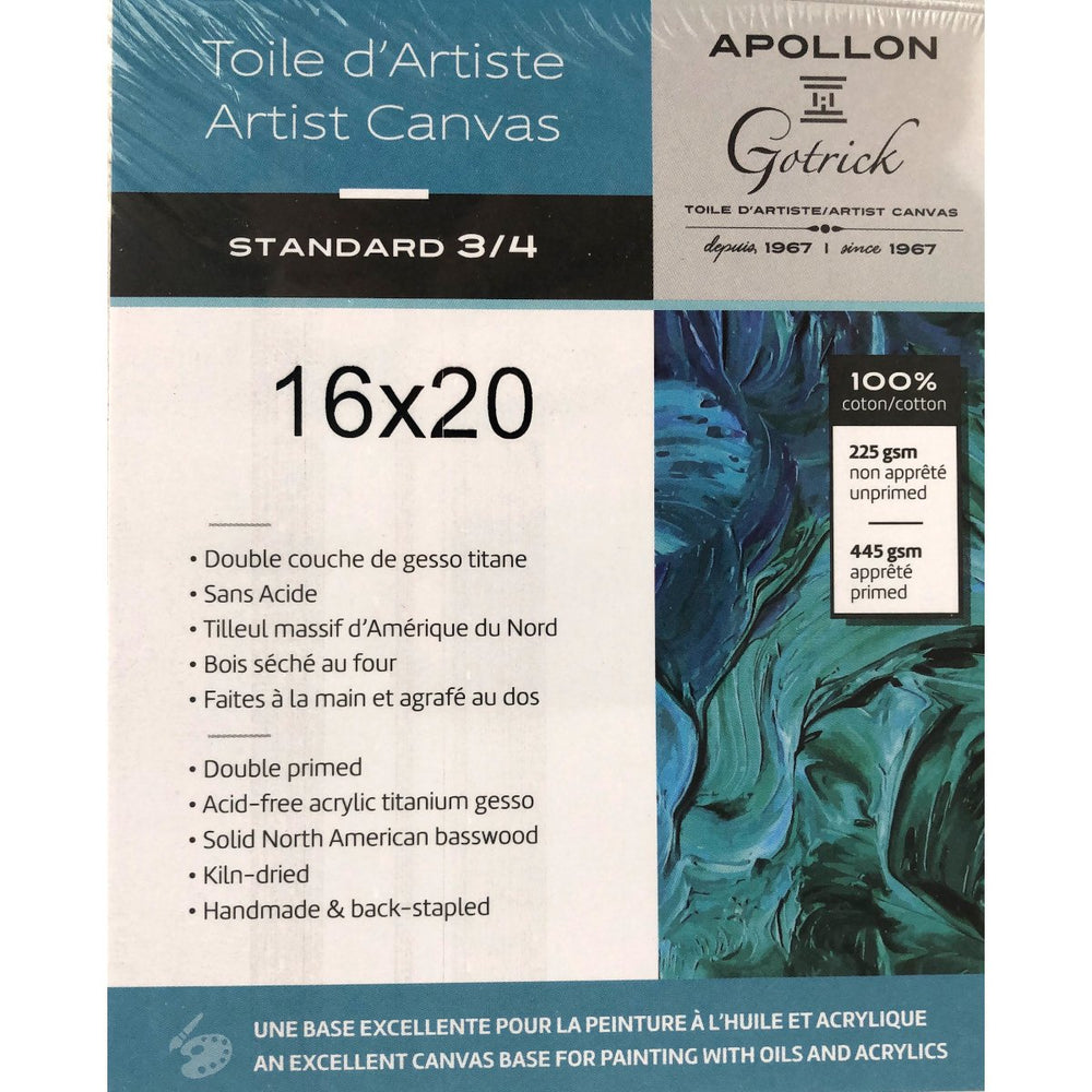 Apollon - Stretched Canvas 3/4, Made in Canada, 21 sizes - Live Love Art Factory